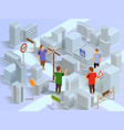 city navigation isometric composition vector image vector image