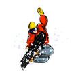 color line sketch snowboarder vector image vector image