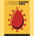 conceptual easter card design vector image
