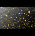 cosmos gold glitter particles background effect vector image vector image