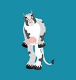 cow sad farm animal sorrowful emotions beef dull vector image vector image