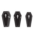 creepy coffin halloween icon set 1 vector image vector image