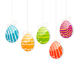 Easter colorful eggs on white background vector image vector image