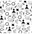 easter orthodox pattern vector image