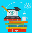 education studying on line concept vector image vector image