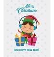 Elf cartoon of Christmas season design vector image