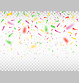 falling confetti pieces defocused colorful vector image vector image