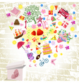 fireworks fun gifts vector image vector image