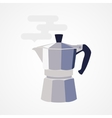 Flat design icon coffee maker vector image