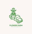flower farm logo vector image vector image