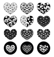 Geometric heart for Valentines Day icons - love vector image vector image