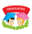 Graduated students vector image vector image