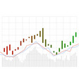 graph stock market trade candle stick graph chart vector image