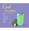 Green cool smoothie vector image