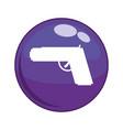 gun weapon button icon vector image