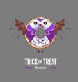 halloween kawaii funny donut count dracula vector image