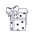 happy birthday dotted gift box decoration vector image vector image