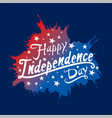 happy independence day of usa vector image vector image