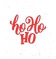 Ho-Ho-Ho Christmas greeting card vector image vector image