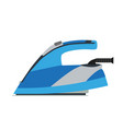 iron electric ironing home clothes laundry flat vector image