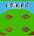 isometric way set of footpath driveway crossroad vector image vector image