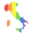 lgbt spectrum dot italy map vector image