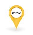 Location Madrid vector image