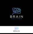 logo a modern neuron or brain vector image vector image