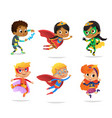 multiracial boys and girls wearing colorful vector image