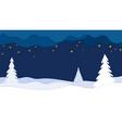 night winter landscape vector image