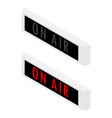 on air sign isometric view isolated on white vector image vector image