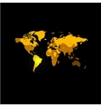 Orange color world map on black background Globe