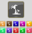 paml icon sign Set with eleven colored buttons for vector image