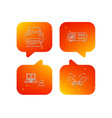 projector printer and wi-fi router icons vector image