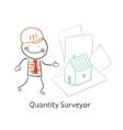 Quantity Surveyor design house on paper vector image