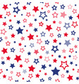 red and blue stars seamless pattern vector image vector image