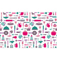 seamless cooking background vector image vector image