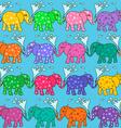 seamless pattern baelephants vector image
