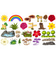 set nature element vector image vector image