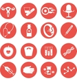 set of icons gynecological vector image