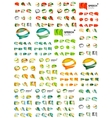 Set of speech bubble icons overlapping shapes vector image vector image