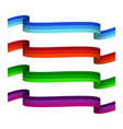 set of tricolor ribbons vector image vector image