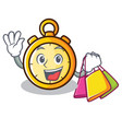 shopping chronometer character cartoon style vector image