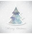 Silver christmas tree with triangle filling vector image