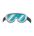 ski googles isolated icon vector image vector image