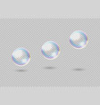 soap bubble realistic rainbow shampoo ball with vector image vector image