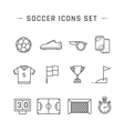 Soccer line icons vector image