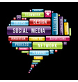 Social media speech bubble vector image