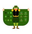 st patricks day leprechaun smuggler selling vector image vector image