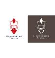 stylized image king diamond for avatar logo vector image
